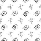 Στρατοπέδευση - doodles συλλογή Συρμένο χέρι άνευ ραφής σχέδιο στρατοπέδευσης Στοκ φωτογραφίες με δικαίωμα ελεύθερης χρήσης