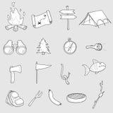 Στρατοπέδευση Doodles Στοκ Εικόνες