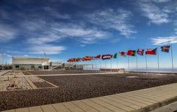 ΣΤΡΑΤΟΠΕΔΟ ΤΗΣ ALMA, ΈΡΗΜΟΣ ATACAMA, ΧΙΛΉ - FEB 15, 2011: Στρατόπεδο βάσεων της περιοχής παρατήρησης ESO ` s ALMA Στοκ Εικόνες