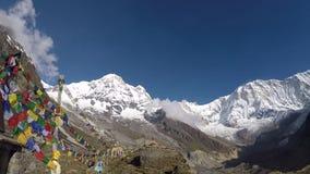 Στρατόπεδο βάσεων Annapurna απόθεμα βίντεο