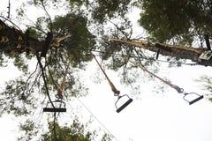 Στρατόπεδο δραστηριοτήτων πάρκων περιπέτειας στοκ εικόνες