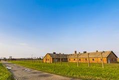 Στρατόπεδο συγκέντρωσης ΙΙ-Birkenau Auschwitz σε Oswiecim, Πολωνία Στοκ εικόνες με δικαίωμα ελεύθερης χρήσης