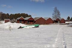 Στρατόπεδο αλιείας Στοκ Φωτογραφία
