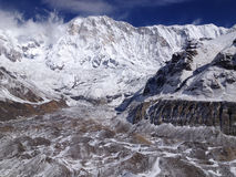 Στρατόπεδο βάσεων Annapurna στο Νεπάλ Ιμαλάια Στοκ φωτογραφίες με δικαίωμα ελεύθερης χρήσης