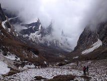Στρατόπεδο βάσεων Annapurna στο Νεπάλ Ιμαλάια Στοκ φωτογραφία με δικαίωμα ελεύθερης χρήσης