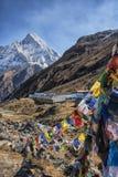 Στρατόπεδο βάσεων Annapurna στο Νεπάλ Στοκ Φωτογραφία