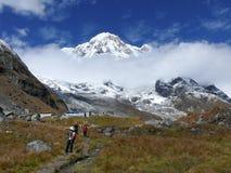 Στρατόπεδο βάσεων Annapurna Στοκ Εικόνες