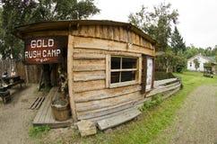 Στρατόπεδο πυρετού χρυσοθηρίας Στοκ φωτογραφία με δικαίωμα ελεύθερης χρήσης