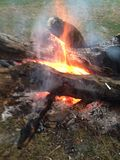 Στρατόπεδο πυρκαγιάς Στοκ εικόνα με δικαίωμα ελεύθερης χρήσης