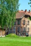 Στρατόπεδο συγκέντρωσης σε Oswiecim, Πολωνία Στοκ Εικόνα