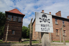 Στρατόπεδο συγκέντρωσης auschwitz-Birkenau Στοκ Εικόνα