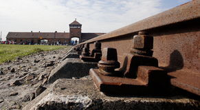 Στρατόπεδο συγκέντρωσης Auschwitz Birkenau Στοκ εικόνα με δικαίωμα ελεύθερης χρήσης