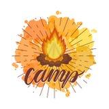 Στρατόπεδο φωτιών απεικόνιση αποθεμάτων
