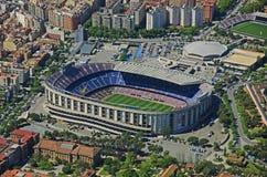 Στρατόπεδο Nou από τον αέρα: FC Βαρκελώνη στοκ εικόνες