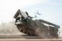 Στρατός παιχνίδι-2017 Διαγωνισμός Tyumen ασφαλών διαδρομών Ρωσία Στοκ Εικόνες
