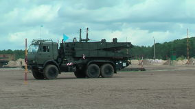 Στρατός παιχνίδι-2017 Διαγωνισμός Tyumen ασφαλών διαδρομών Ρωσία απόθεμα βίντεο