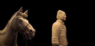 Στρατός τερακότας δυναστείας Qin, Xian (Σηάν), Κίνα στοκ εικόνες