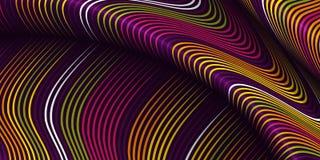 Στρεβλωμένο διάνυσμα υπόβαθρο γραμμών Εύκαμπτα λωρίδες που στρίβονται ως μετάξι που διαμορφώνει τις ογκομετρικές πτυχές ελεύθερη απεικόνιση δικαιώματος