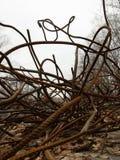 Στριμμένη σκουριασμένη ενίσχυση Στοκ φωτογραφία με δικαίωμα ελεύθερης χρήσης