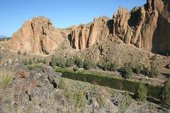 στριμμένος βράχος Smith ποταμών Στοκ εικόνες με δικαίωμα ελεύθερης χρήσης