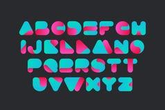 Στριμμένο διανυσματικό σχέδιο πηγών Αλφάβητο χαρακτήρων ελεύθερη απεικόνιση δικαιώματος