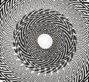 Στριμμένο κυκλικό σχέδιο στοκ εικόνες