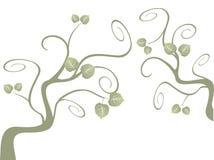 στροβιλιμένος δέντρο Στοκ Φωτογραφίες