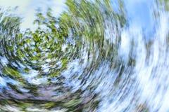 Στροβιλιμένος δέντρο και ουρανός Στοκ Εικόνες