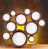 Στρογγυλές μορφές υπό μορφή βαρελιών μπύρας Στοκ εικόνα με δικαίωμα ελεύθερης χρήσης