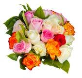 Στρογγυλή ανθοδέσμη των τριαντάφυλλων Στοκ Εικόνες