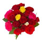 Στρογγυλή ανθοδέσμη των τριαντάφυλλων Στοκ εικόνες με δικαίωμα ελεύθερης χρήσης