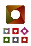 Στρογγυλευμένο σχέδιο στοιχείο ορθογωνίων λογότυπων. Στοκ φωτογραφίες με δικαίωμα ελεύθερης χρήσης