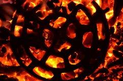Στρογγυλός αριθμός για τους καυτούς άνθρακες Στοκ Φωτογραφίες