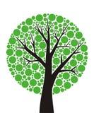 στρογγυλό δέντρο Στοκ Φωτογραφία