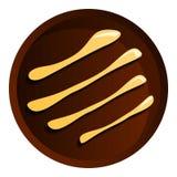 Στρογγυλό εικονίδιο μπισκότων σοκολάτας, ύφος κινούμενων σχεδίων ελεύθερη απεικόνιση δικαιώματος