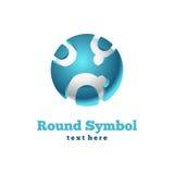Στρογγυλό εικονίδιο. Αφηρημένο σύμβολο Στοκ φωτογραφία με δικαίωμα ελεύθερης χρήσης