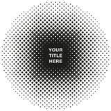 Στρογγυλό ημίτονο σχέδιο με το διάστημα αντιγράφων τίτλου με το διανυσματικό σχήμα Στοκ Φωτογραφίες