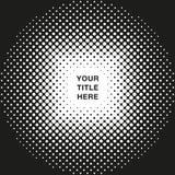 Στρογγυλό ημίτονο σχέδιο με το διάστημα αντιγράφων τίτλου με το διανυσματικό σχήμα Στοκ φωτογραφία με δικαίωμα ελεύθερης χρήσης