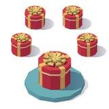 Στρογγυλό κιβώτιο δώρων με το καπάκι Στοκ Εικόνες