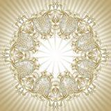 Στρογγυλό πλαίσιο από το floral πρότυπο Στοκ Εικόνες