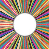 Στρογγυλό πλαίσιο πέρα από το χρωματισμένο χειροποίητο υπόβαθρο ταπήτων ελεύθερη απεικόνιση δικαιώματος
