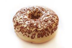Στρογγυλό doughnut με την άσπρη βανίλια creame στοκ εικόνες