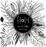 Στρογγυλό floral διανυσματικό πλαίσιο Στοκ φωτογραφίες με δικαίωμα ελεύθερης χρήσης