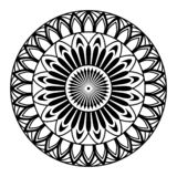 Στρογγυλό mandala για το χρωματισμό στο άσπρο υπόβαθρο απεικόνιση αποθεμάτων
