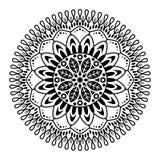 Στρογγυλό mandala για το χρωματισμό στο άσπρο υπόβαθρο διανυσματική απεικόνιση