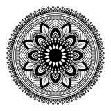 Στρογγυλό mandala για το χρωματισμό στο άσπρο υπόβαθρο ελεύθερη απεικόνιση δικαιώματος