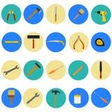 Στρογγυλά επίπεδα εργαλεία χεριών Στοκ φωτογραφία με δικαίωμα ελεύθερης χρήσης