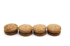 Στρογγυλά καφετιά μπισκότα Στοκ Φωτογραφίες
