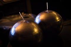Στρογγυλά κεριά Στοκ εικόνες με δικαίωμα ελεύθερης χρήσης