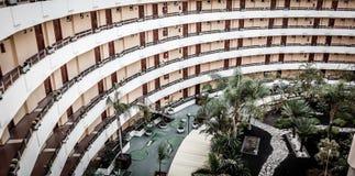 Στρογγυλά μπαλκόνια ξενοδοχείων Στοκ εικόνα με δικαίωμα ελεύθερης χρήσης